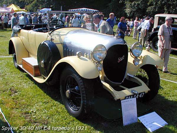 1921 Spyker 30-40 HP C4 Torpedo a