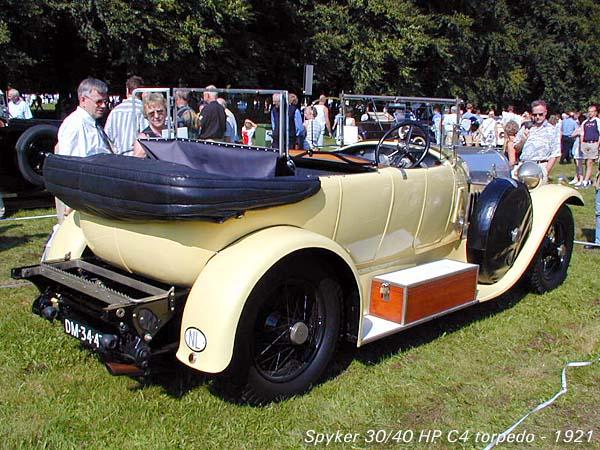1921 Spyker 30-40 HP C4 Torpedo b