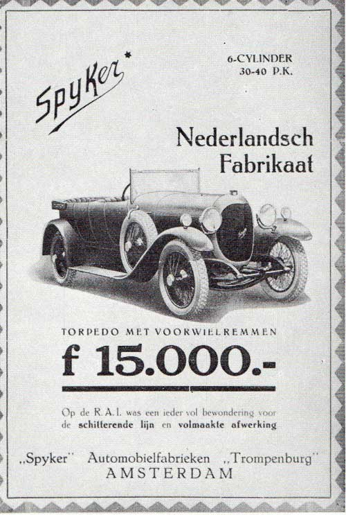1922 spyker-c4 ad