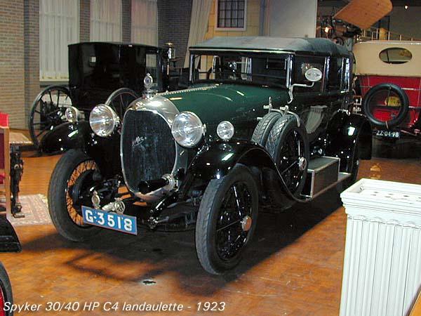 1923 Spyker 30-40 HP C4 Landaulette a
