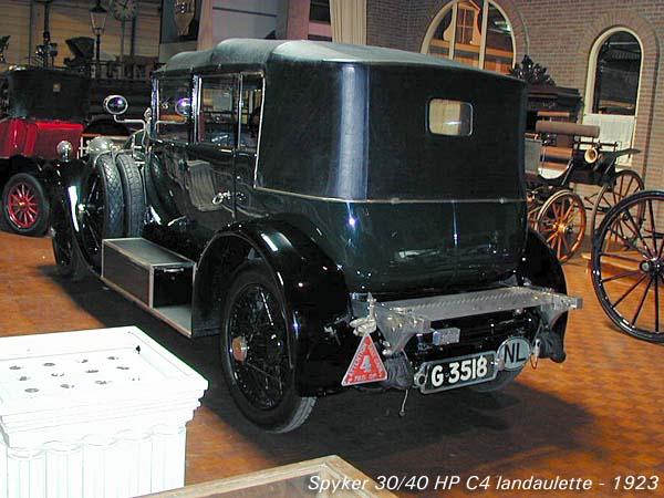 1923 Spyker 30-40 HP C4 Landaulette b