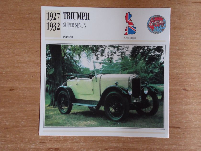 1927-32 Triumph Super Seven UK