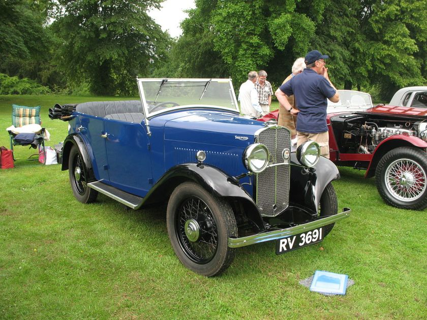 1931 Triumph Super 9, 4 Door Tourer