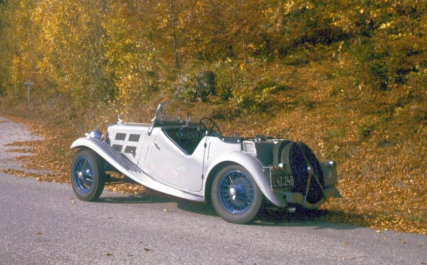 1936 Triumph Gloria Southern Cross 10.8 HP (four, 1,232 cc)