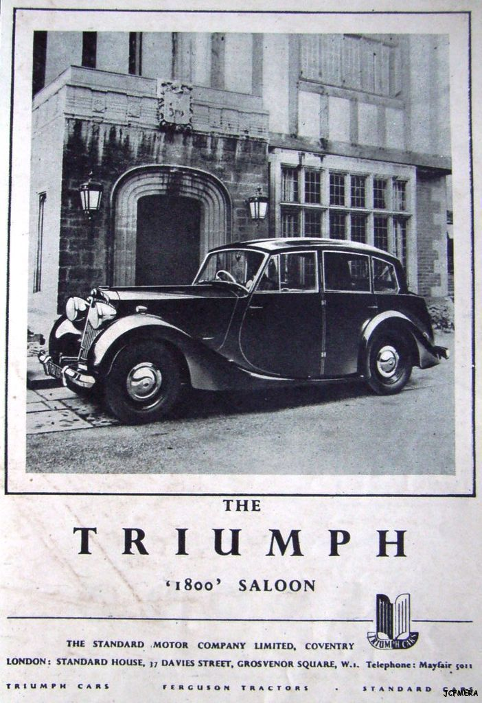 1947 'TRIUMPH 1800' Saloon Car Advert