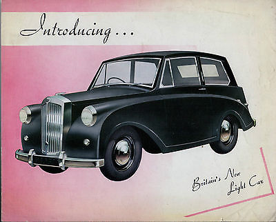 1950-51 Triumph Mayflower Saloon UK Market Sales Brochure