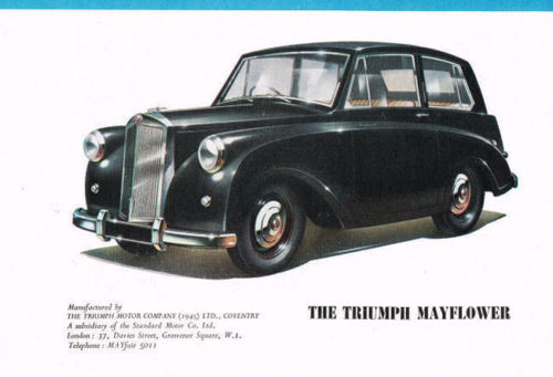 1950 Triumph Mayflower ad