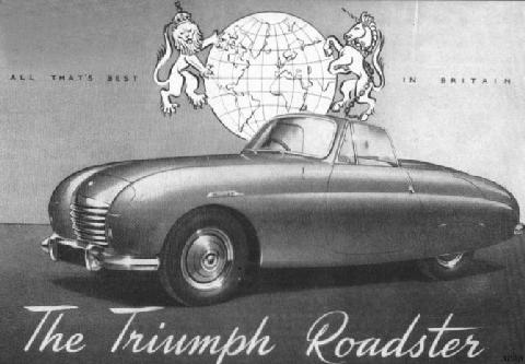 1950 triumph trx roadster advert