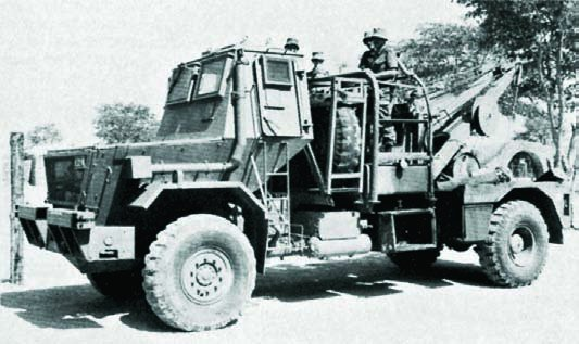 1986 SAMIL-50 Mk-II partially armoured evacuation vehicle, 4x4