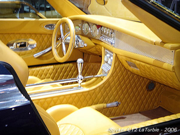 2006 Spyker C12 LaTurbie interior