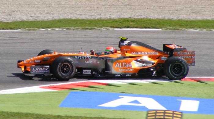 2007 Sakon Yamamoto in actie voor Spyker, Yamamoto Formula 1