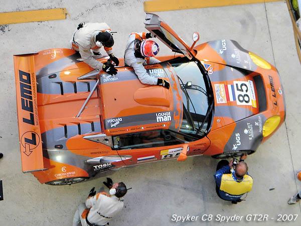 2007 Spyker C8 Spyder GT2R top
