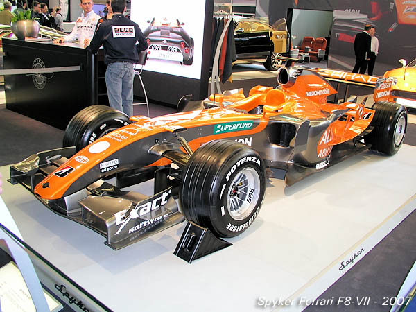 2007 Spyker Ferrari F8-VII