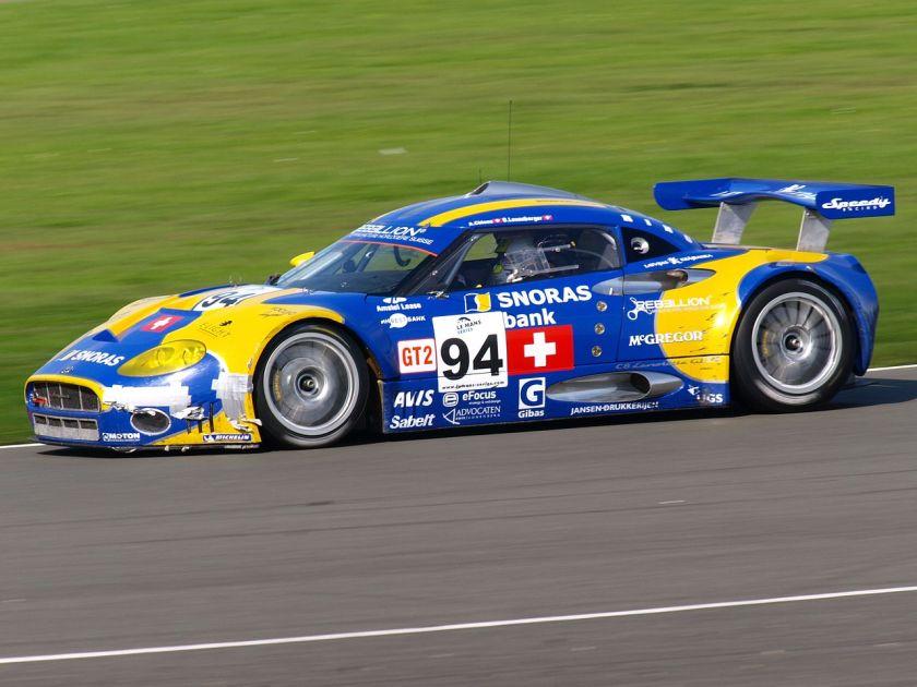 2008 Speedy Spyker Side Spyker C8 Laviolette GT2-R (bij de 1000km van Silverstone op 14 september 2008)