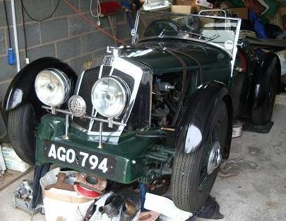 A Vale Special, previously belonging to Allan Gaspar, in the process of being restored by David Cox in 2005.