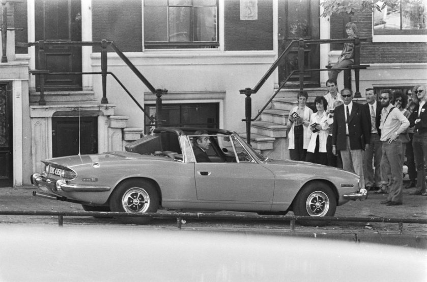 Sean Connery in a Triumph Mk1 Stag in Diamonds Are Forever