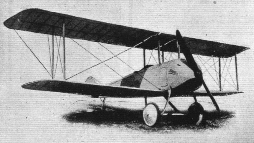 Spijker V.1 in its early form with curved undercarriage front legs and no cut-out in the upper wing