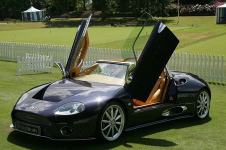 Spyker C8 at Salon Prive, London, England.