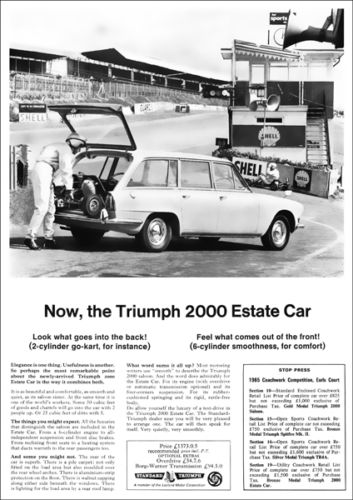TRIUMPH 2000 ESTATE RETRO A3 POSTER PRINT FROM 60'S ADVERT