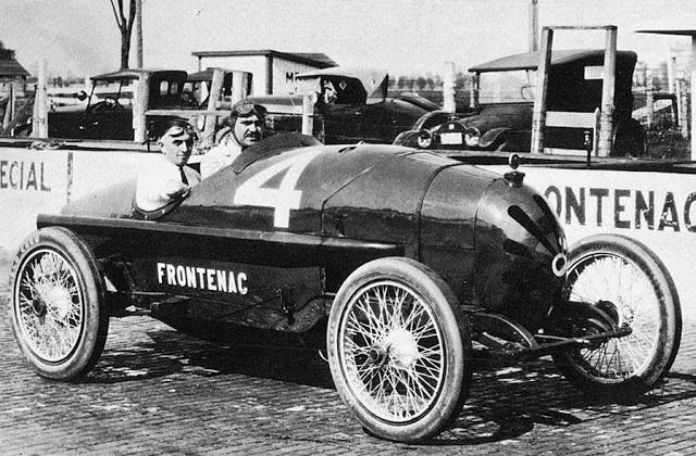 1915 American La France Duray and a great grill on 1922 Indy racer