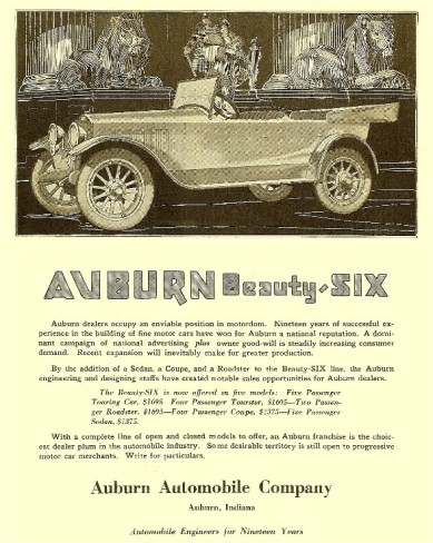 1919 Auburn Beauty Six Indiana USA