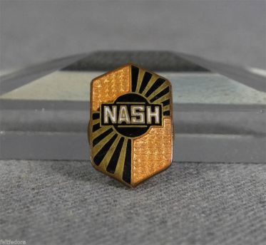 1920-30 NASH MOTORS CARS AUTOMOBILES EMBLEM LOGO LAPEL PIN BADGE BUTTON ENAMEL