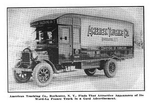 1921 Ward LaFrance 1921 American Trucking Company Motor Truck 1-03-21 DS