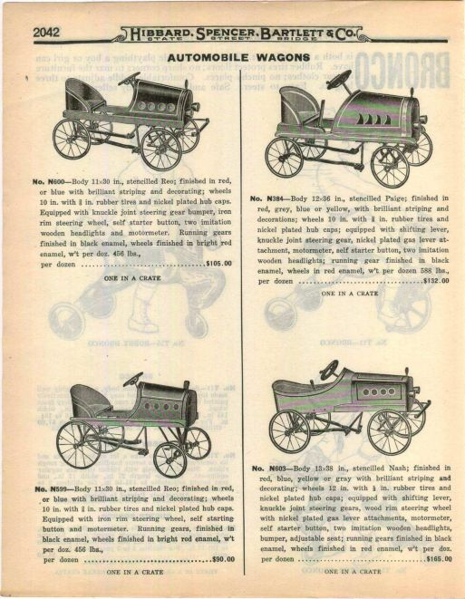 1922 ADVERTISEMENT American Pedal Cars Automobile Wagons Reo Paige Nash RARE