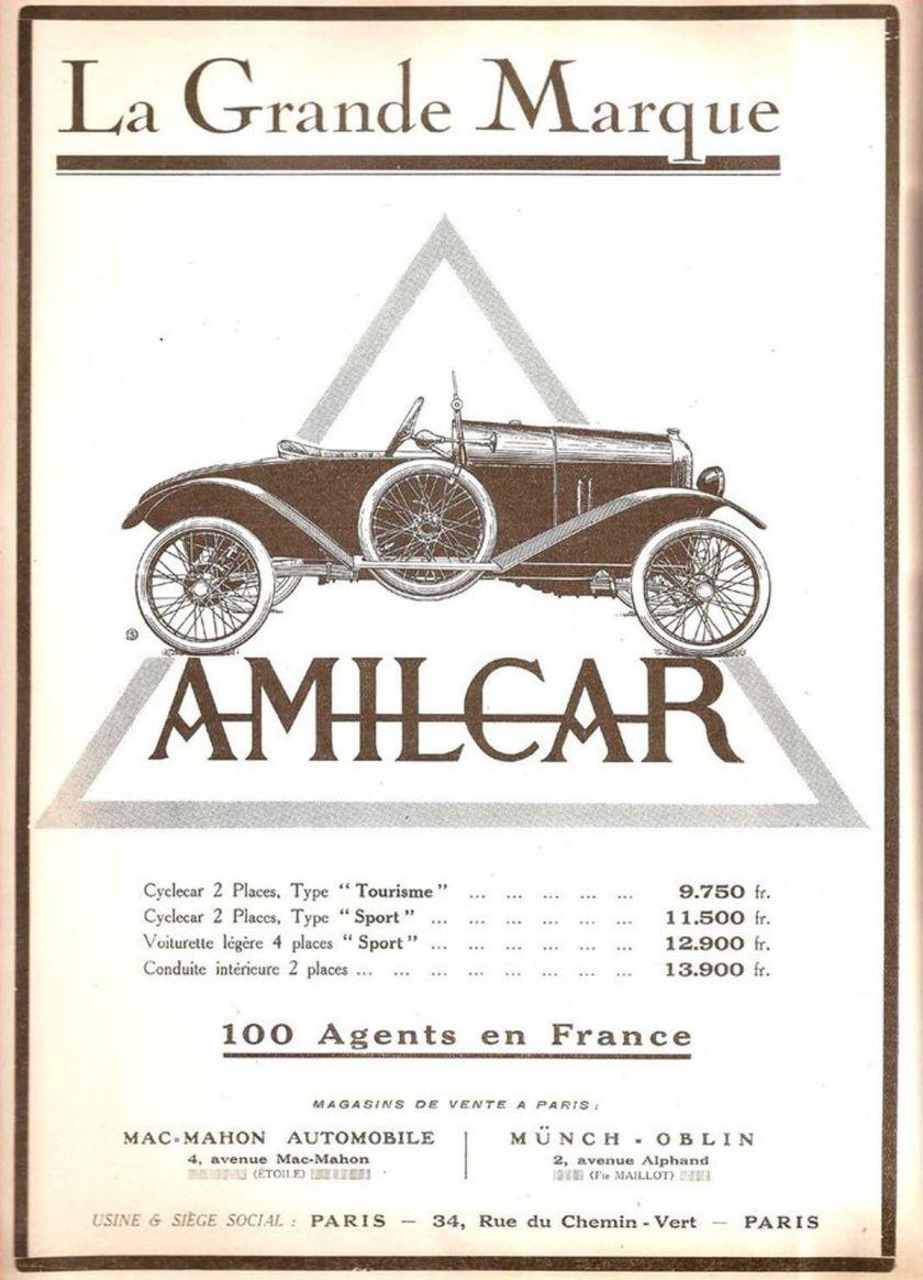 1922 - AMILCAR Sport Automobiles
