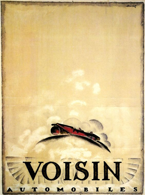 1923 Charles Loupot's painting of the Voisin auto