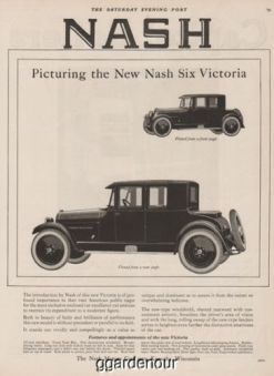 1923 Nash Motors Kenosha WI Six Victoria Coupe Front Rear Angle Anique Car Ad