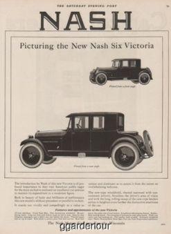 1923 Nash Motors Kenosha WI Six Victoria Coupe Front Rear Angle Anique Car Ad