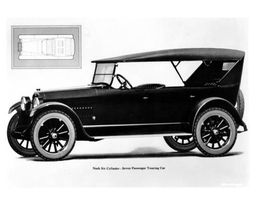 1923 Nash Six Cylinder 7 Pass Touring Car Factory Photo c9711