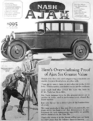 1925 Ajax advertisement