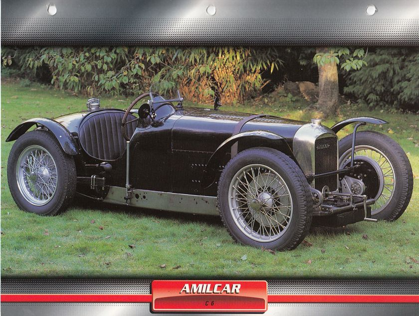 1927 AMILCAR C6 C-6 France Classic Car a