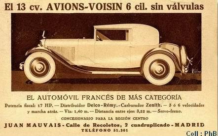 1927 carte c14 espagnole