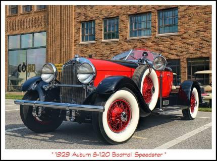 1929 Auburn 8-120 Boattail Speedster m