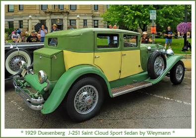 1929 Duesenberg J-251 Saint Cloud Sport Sedan