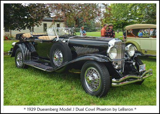 1929 Duesenberg Model J Dual Cowl Phaeton a