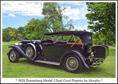 1929 Duesenberg Model J Dual Cowl Phaeton b