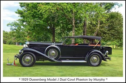 1929 Duesenberg Model J Dual Cowl Phaeton c
