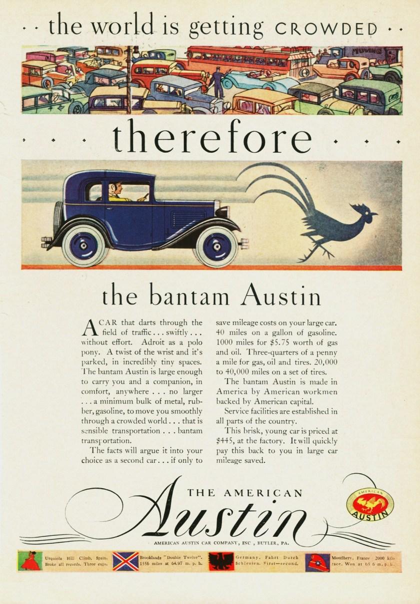 1930 American Austin Ad-0a
