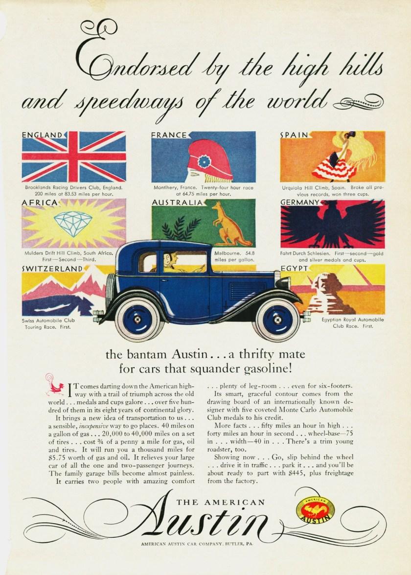 1930 American Austin Ad-0b