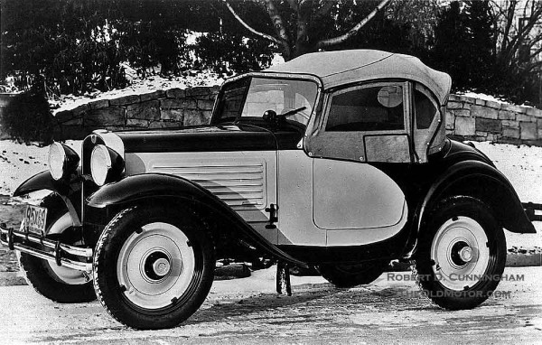 1930 American Austin roadster complete with top and side curtains