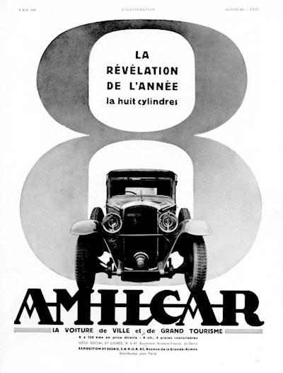 1930 Amilcar 8 ad 30