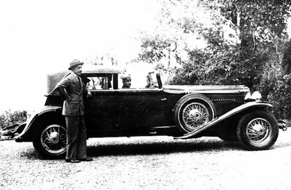 1930 Duesenberg J hibbard and Darrin Town Car and King of Spain Alfonso XIII