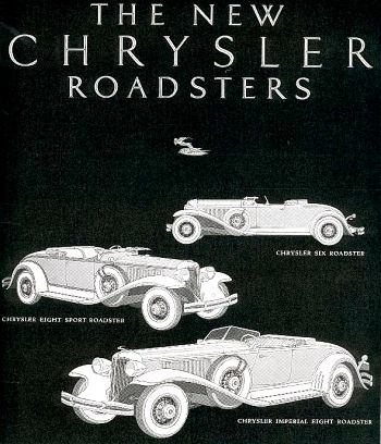 1931 Chrysler roadsters