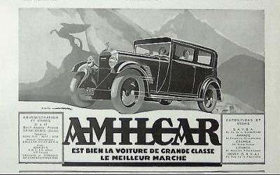 1932 Amilcar ad