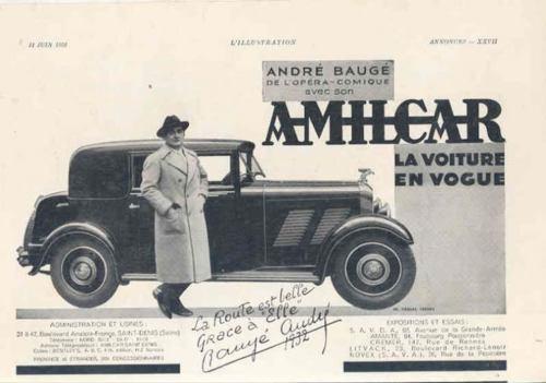 1932 Amilcar Magazine Ad