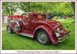 1932 Duesenberg Model J Coupe by Judkins hj